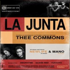 LA JUNTA x THEE COMMONS flyer