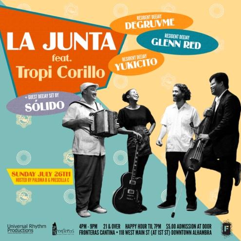 LA JUNTA X TROPI CORILLO 072615 Flyer 720x