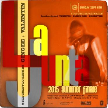 LA JUNTA x GINGEE 090615 Flyer 720px